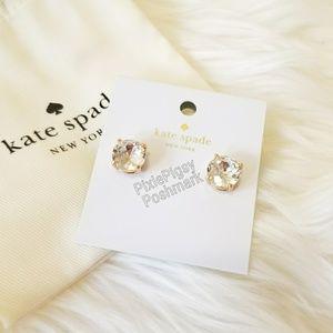Kate Spade Crystal Clear Gum Drop Stud Earrings